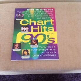 Chart Hits of 90's Music book