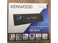 Kenwood KDC-200UB Car Stereo CD-Receiver with USB Interface