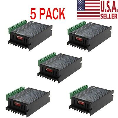 5x Cnc Single Axis 4a Tb6600 24 Phase Hybrid Stepper Motor Drivers Controller