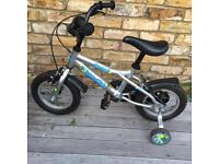 Dawes Blowfish children's bicycle 12 inches with stabilisers