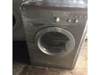 INDESIT GREY WASHING MACHINE & DRYER,EXCELLENT CONDITION FOR SALE, LED DISPLAY