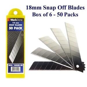 18mm Snap Off Blade 10 and 50 Packs - Min 200 Blades - Bulk Discounts