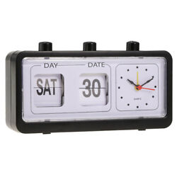 New Retro Clock Flip Display with Date & Time Display -Black
