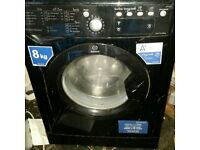 Black Indesit 8kg washing machine