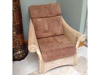 2 Wicker armchairs