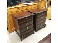 STAG BEDSIDE TABLES WITH 4 DRAWERS Solid mahogany wood