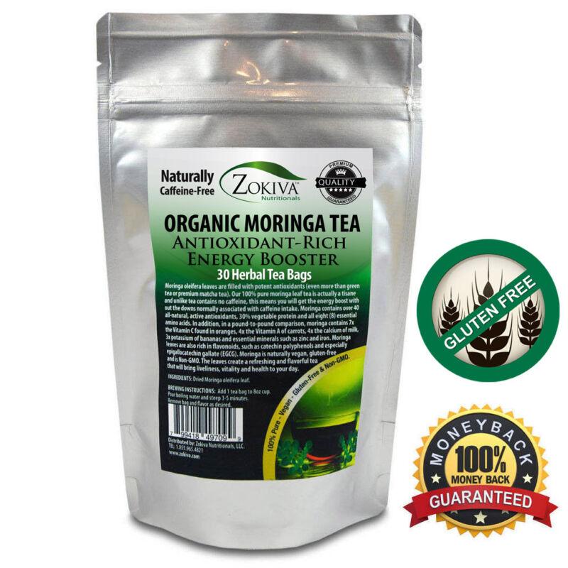 Moringa Tea 100% Pure (30 Bags) Organic All-Natural Energy Booster