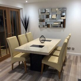 Stone dining table & chairs