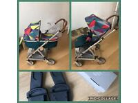 Mamas and Papas Urbo2 Pushchair (buggy & pram) with Maxi cosi car seat adapters