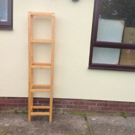 Pine glass shelf unit