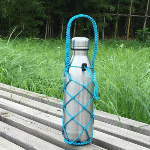 Portable Water Bottle Holder Carrying Net Mesh Sleeve Bag 9o