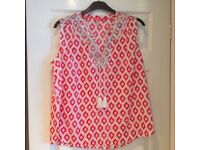 Joules summer top size 18