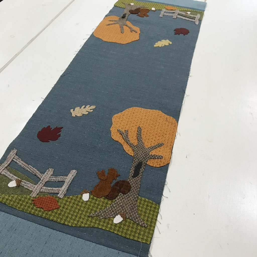 Squirrel Kite Hill Wool Table Runner Kit  ON SALE