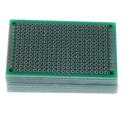 10pc Prototype Board Double Side Pcb Universal Printed Circuit Board Diy Kit