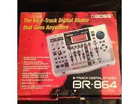 Boss 864 8 track digital studio.