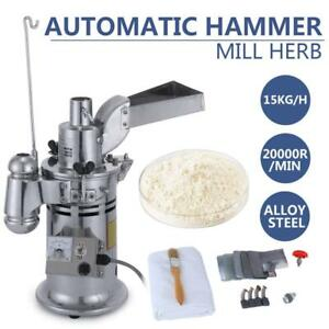 Automatic  Continuous Hammer Mill Herb Grinder Pulverizer 15Kg/h
