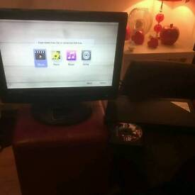 """19"""" HD lcd TV with free view and LG bluray player"""