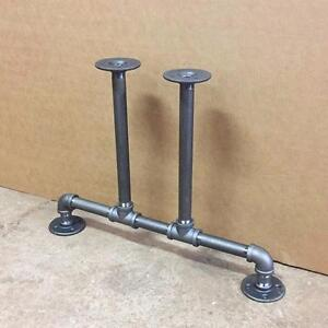 Industrial pipe legs KIT, black iron fittings pipe table legs, bench legs, cabinet legs, cast iron dining table legs