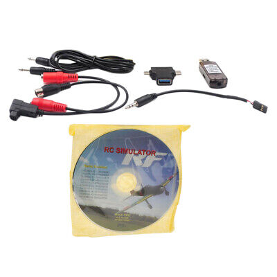 RC Flight Simulator USB Cable for Realflight Phoenix FMS (XP Windows7/8/10)