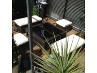 Rattan garden patio furniture £125 Ono tel 07966921804