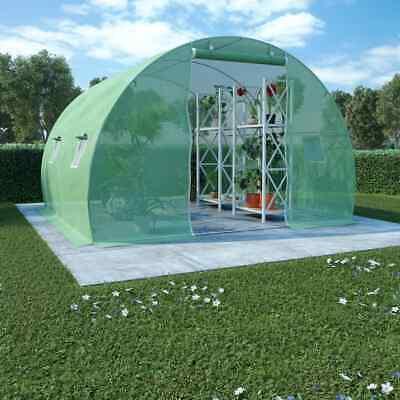 vidaXL Invernadero Cimientos Acero 9 m² 300x300x200 cm Invernáculo Jardinera
