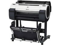 """Canon ImagePROGRAF iPF670 large format printer (24"""" roll & sheet fed) with stand, ink and 8 x rolls"""