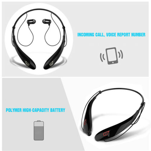 Bluetooth Wireless Stereo Sport Headphone Earphone For Samsung iPhone LG V30 20 Cell Phone Accessories