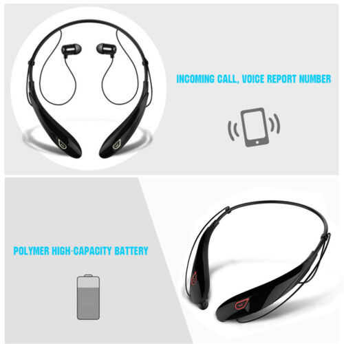Bluetooth Wireless Stereo Handsfree Sport Headphones Earphones Noise Cancelling Cell Phone Accessories