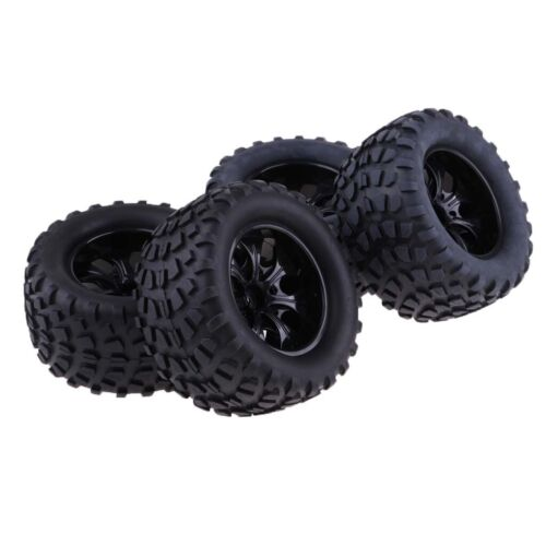 """103mm Rubber Tires Tyres 1.9"""" Wheels for 1/10 RC Crawler Mon"""