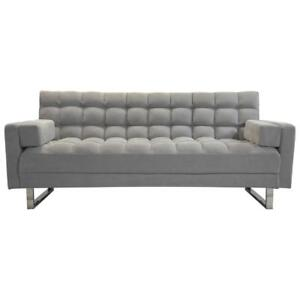 My Style Collection Deejay Jayla Fabric Futon - Double  Grey (New other)