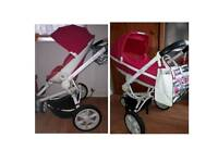 Quinny moodd 2016 pink 3 in 1 travel system