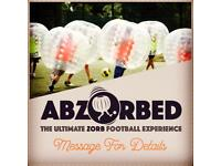 Zorbing football business for sale
