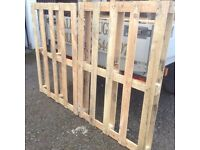 Fencing sections (pallets)