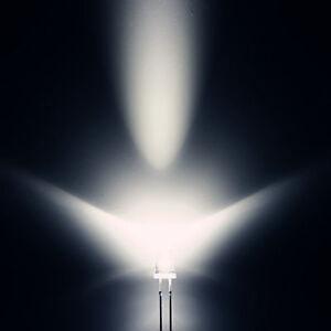 50 Stk. LEDs 5mm Rund Superhelle Transparent weiße LED 25000mcd Leuchtdioden