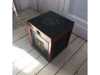 Laquered Chinese Box with Toughened Glass Top and Happiness Symbol