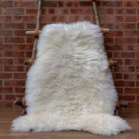 Giant sheepskin rugs 135cm long / 85cm wide