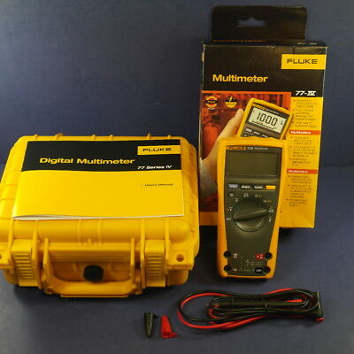 Brand New Fluke 77iv 77 Iv Multimeter Original Box And Waterproof Hard Case