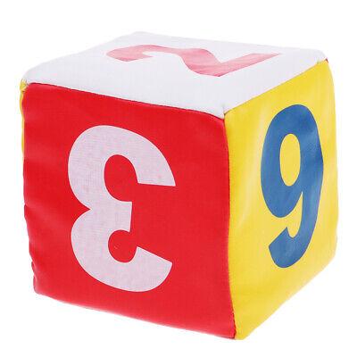 Sponge Dice Foam Dot Dice Kids Toy for Enlightenment Cognition 1-6 (Foam Dot Dice)