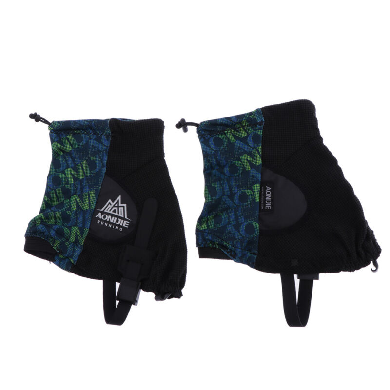 Outdoor Unisex High Running Trail Gaiters Protective Sandproof Shoe Covers