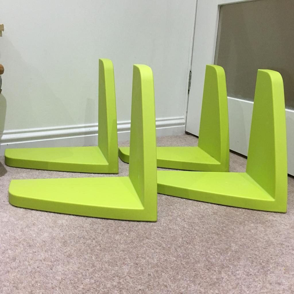Four green Ikea Mammut shelves, £20