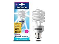 1750 lumen energy-saving (CFL) light bulb; 25 W (100 W incandescent equivalent); 6000 K