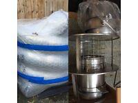 """Woodburner 6"""" / 150mm 9m Flueliner, Chimney Cowl and Adapter Installation Bundle"""