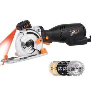NEW Tacklife 120v Circular Saw with Laser Guide 6 Blades | CSK77AC