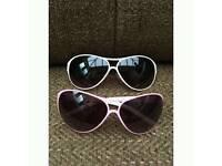 Aviator Glasses - pink/white & black/white