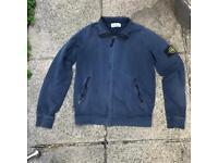 Stone island navy fleece jacket