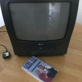 Retro 14 inch TV with built in VHS