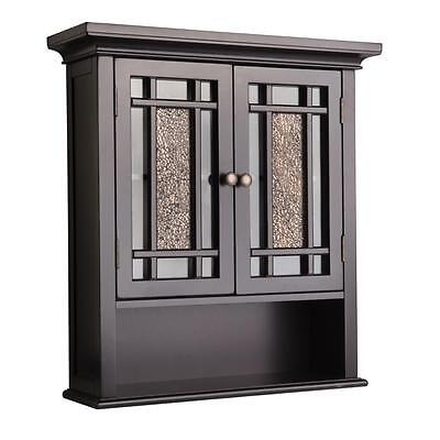 Windsor Modern Wall Mount Cabinet w 2 Doors & 1 Shelf for Bathroom Storage