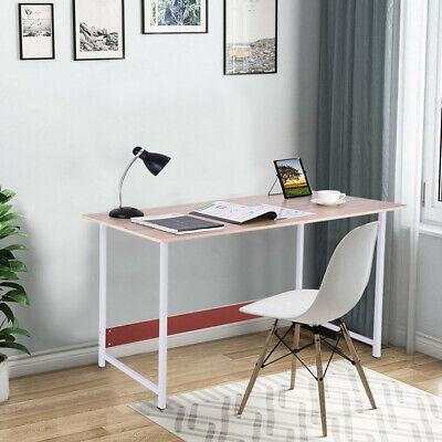 Modern Computer Desk Laptop Desktop Study Writing Dining Table Home Office US Office Steel Writing Desk