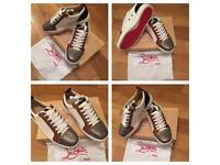 Christian Louboutin White Loubs Unisex Trainers Sneakers Shoes Fashion Footwear With Box & Dust Bag