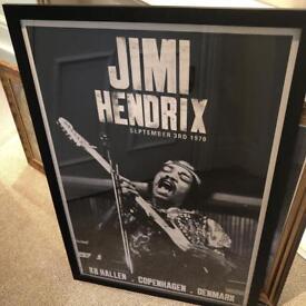 Jimi Hendrix Poster / framed